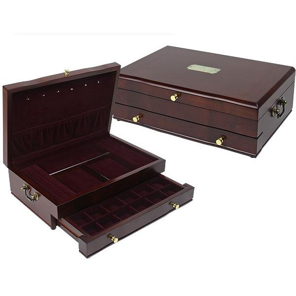 Reed & Barton Duchess II Jewelry Box - Mahogany | American Box