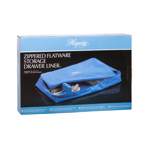 Hagerty 120 Pc Zippered Drawer Box Liner Silverware