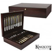 Kingscote Silversmiths - Mahogany Brunswick Chest - 130 Capacity