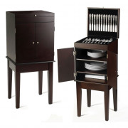 Wallace Helmsford 400-pc Silverware Buffet 3' Cabinet