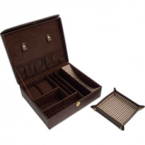 University Men's Leather & Houndstooth Valet + Travel Valet