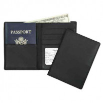 Alamo RFID-Blocking Passport Wallet Leather - Black
