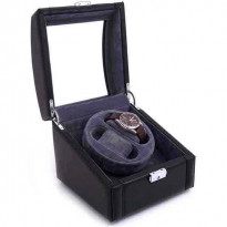 Doppelganger Leather Double-Watch Winder - Black