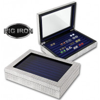 Pig Iron 36-pair Cufflinks Box - Diamondplate