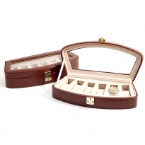 Saucon Leather 6-pc Watch Box - Brown