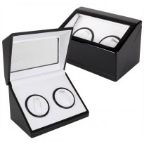 Glen Rock Double-Watch Winder - Black